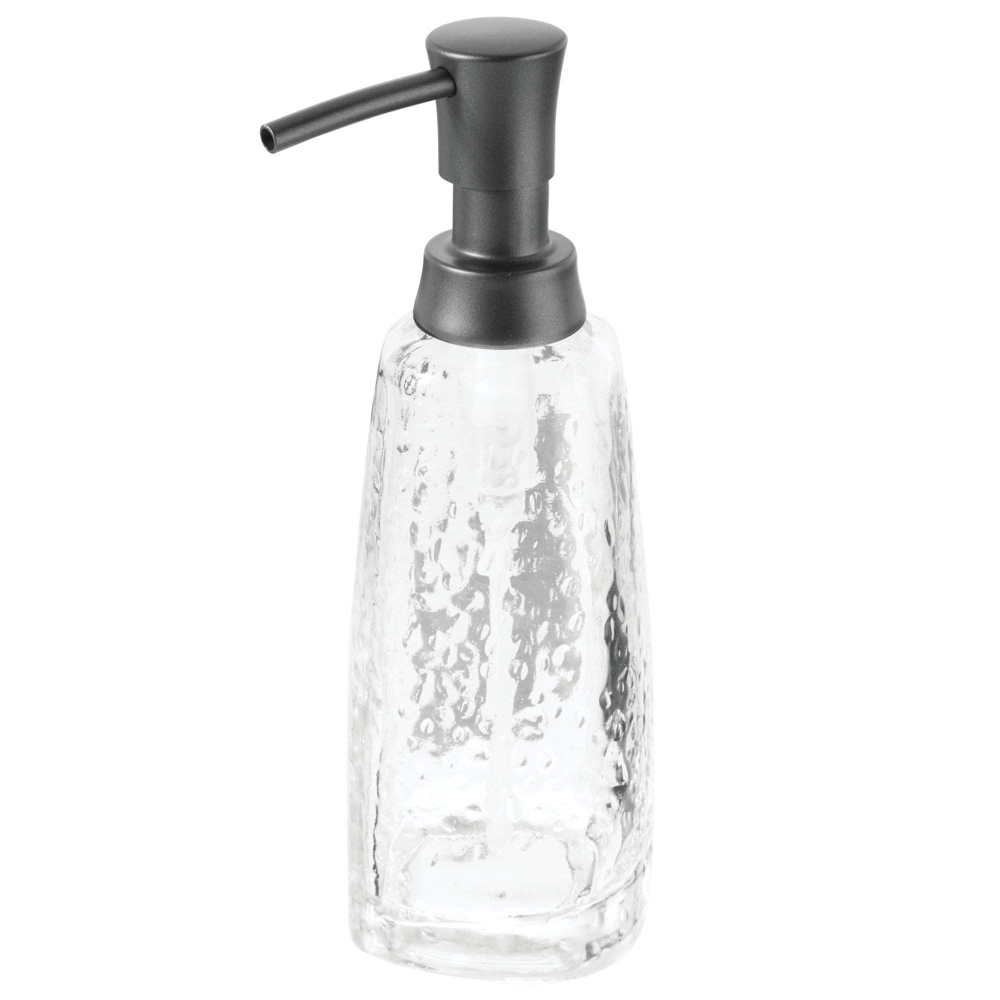Mdesign Modern Glass Refillable Liquid Soap Dispenser Pump Bottle