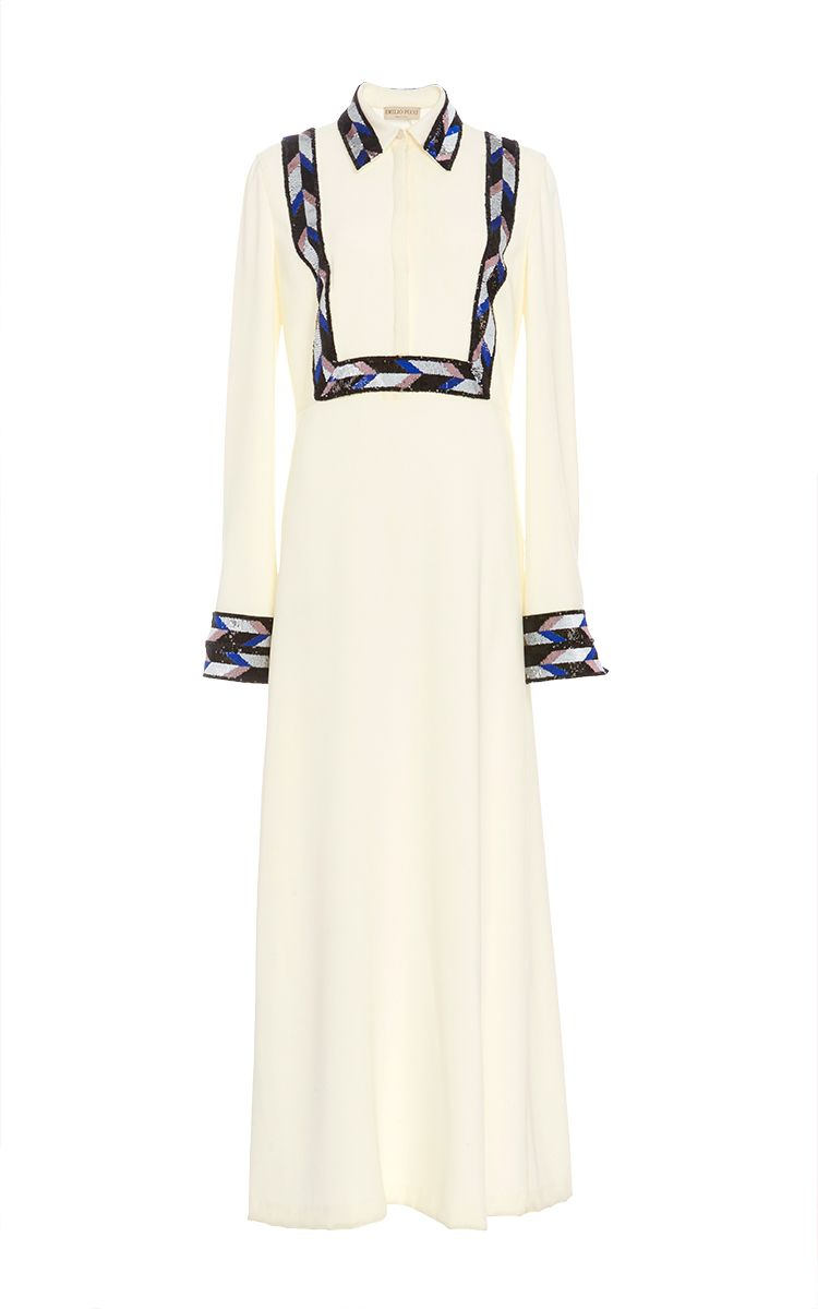 Long sleeve sheath midi dress by emilio pucci now available on moda