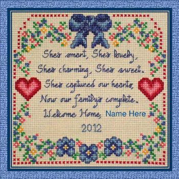 Adoption - Cross Stitch Patterns & Kits - 123Stitch com | Cross