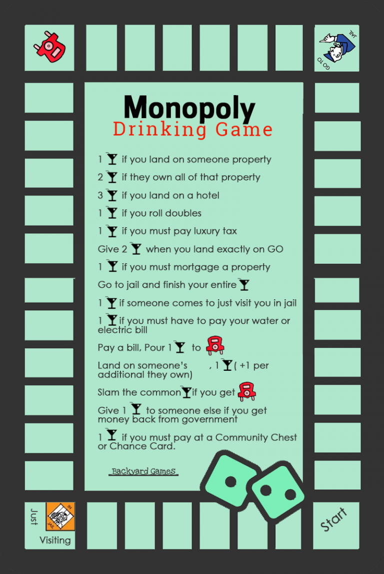 How To Play Monopoly Drinking Game Rules & BeerOpoly