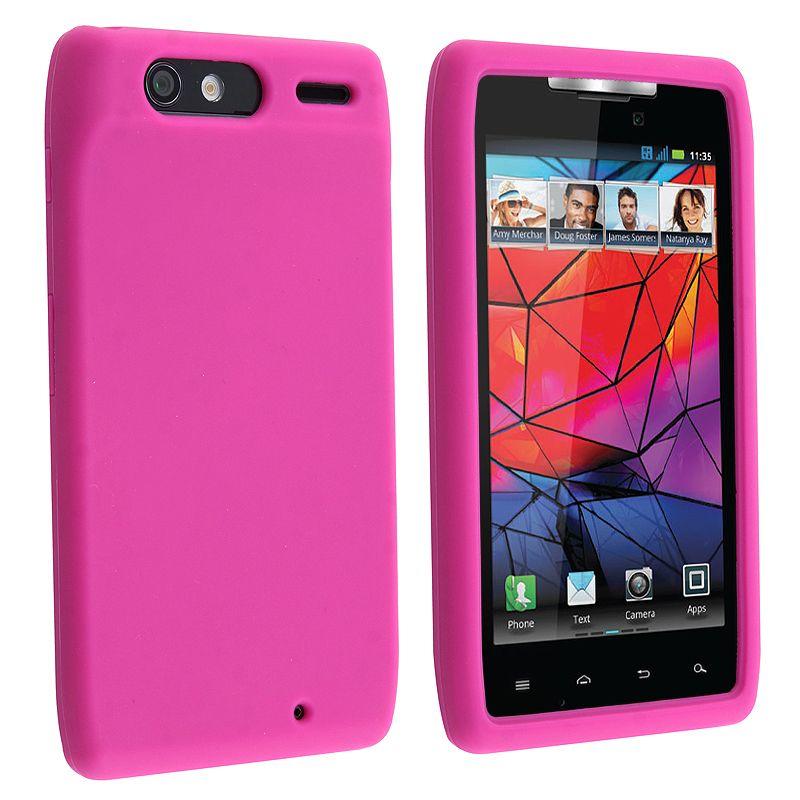 Insten Hot Soft Silicone Skin Phone Case Cover for Motorola Droid Razr XT910