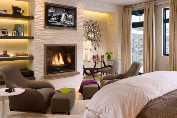 charming fireplace master bedroom decorating ideas | 50 Bedroom Fireplace Ideas: Fill Your Nights With Warmth ...