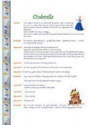 english worksheet a short play cinderella esl pinterest worksheets reading worksheets. Black Bedroom Furniture Sets. Home Design Ideas