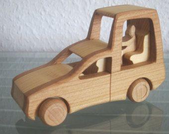 Papa Papa Mobile Mobile wooden car model car car pope wood HANDMADE NEW