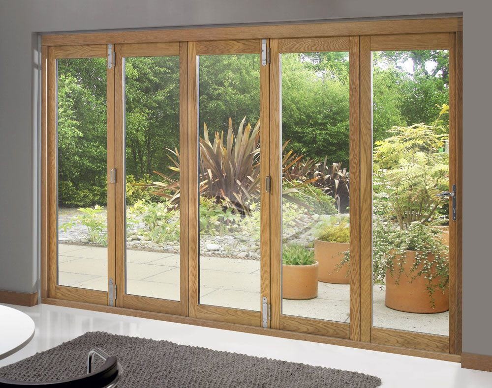 Trufold 46 Supreme External 5 Door 12 Ft Unfinished Oak French Doors Patio Exterior Doors External French Doors