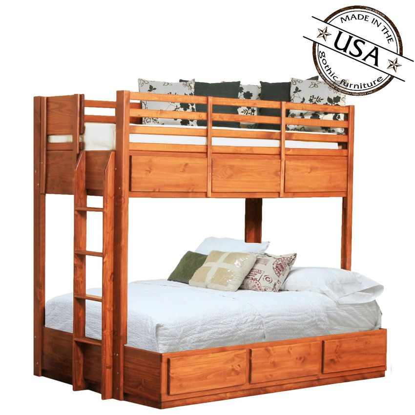 Pin By Gothic Cabinet Craft On Kids Furniture Twin Full Bunk Bed Full Bunk Beds Bunk Beds