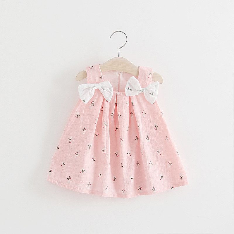 Toddler Baby Child Girls Sleeveless Floral Princess Dresses Bow Cap Outfits