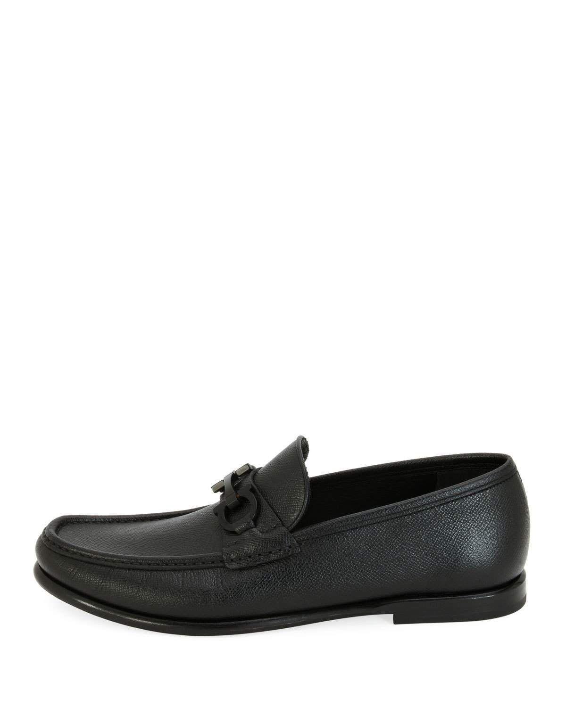 fd98dc1a2df Salvatore Ferragamo Men s Textured Leather Gancini Moccasin Loafer   moccasins
