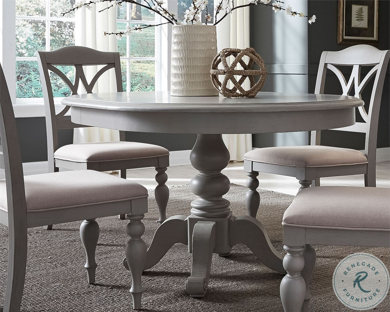 Summer House Dove Grey Extendable Round Pedestal Dining Room Set In 2021 Round Dining Room Table Round Dining Room Sets Grey Dining Tables Circle kitchen table set