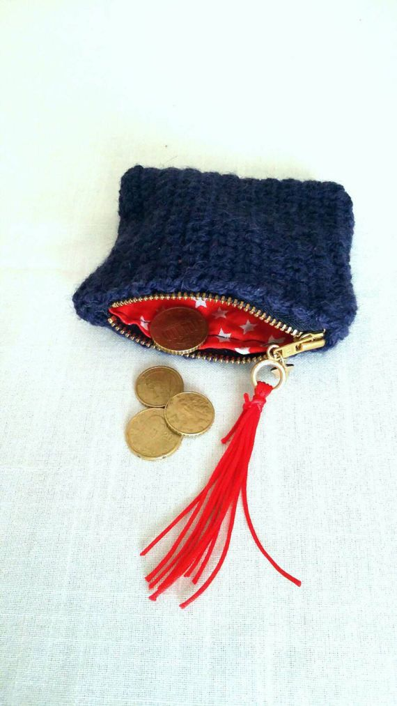 Handmade crochet coin purse / free combined by KaterinakiJewelry
