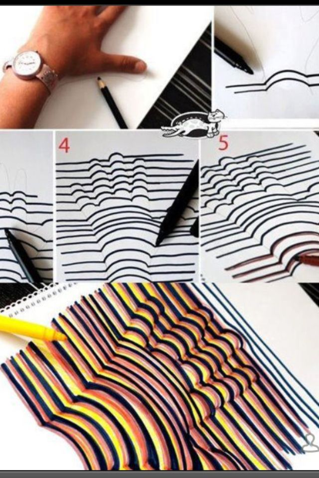 3D hand drawing Artsy Pinterest Hand drawn, 3d and Craft - creer maison 3d gratuit