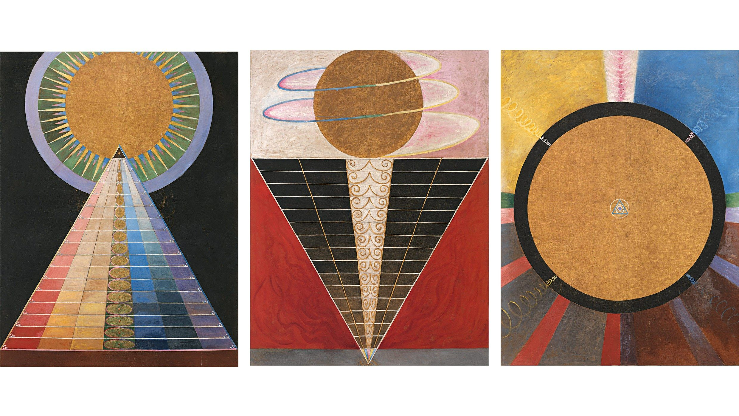 Paintings for the Temple | Hilma af klint, Art deco posters, Automatic  drawing