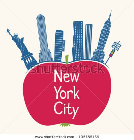 New York City Big Apple Logo Clipart | New York big apple ...