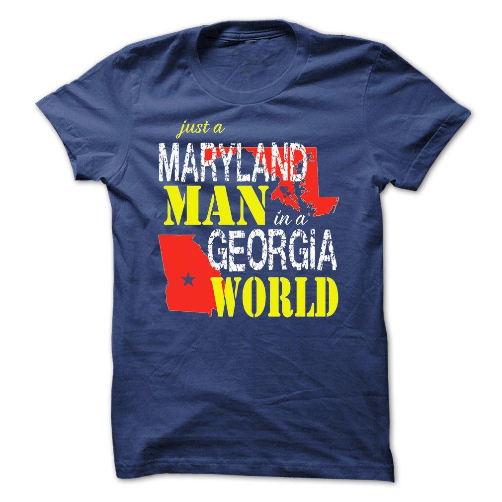 Maryland Man In A Georgia World T Shirt, Hoodie, Sweatshirt