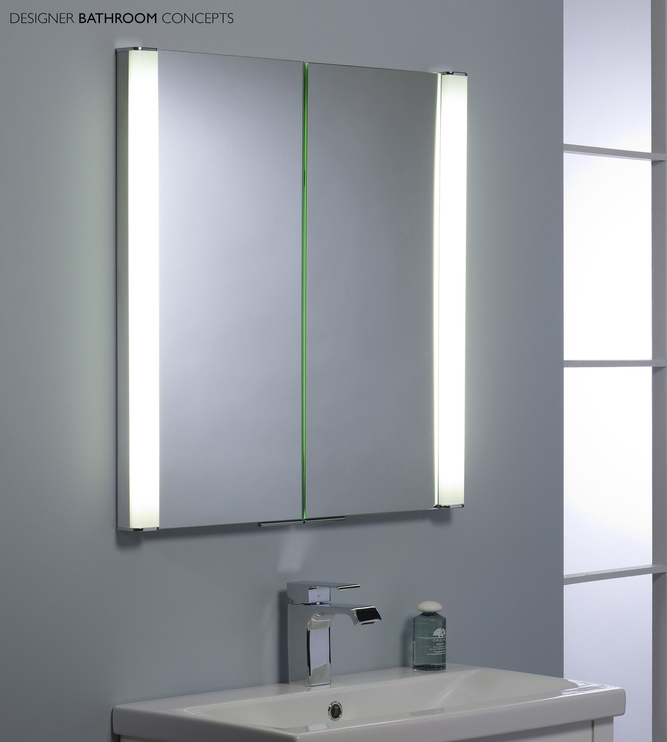 Homely Ideas Mirror Bathroom Cabinet With Light For Lights Also with ...