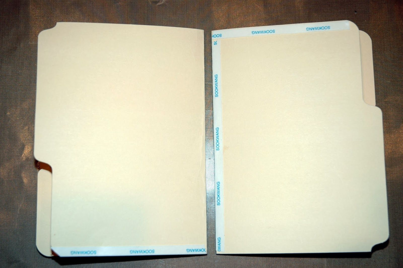 Make a fabulous journal/book from file folders and tags ...
