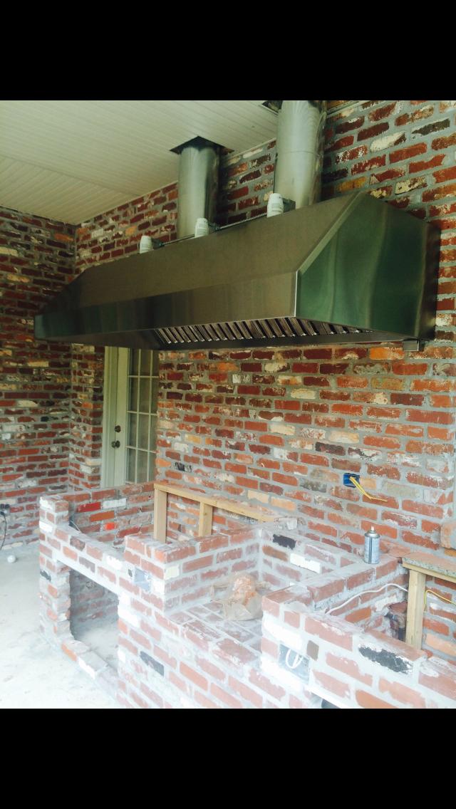 custom vent hood 1 custom vent hoods outdoor kitchen home on outdoor kitchen vent hood ideas id=22280