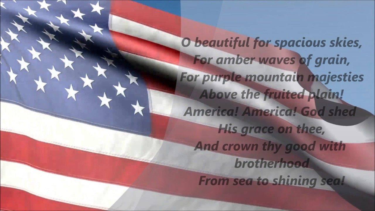 America The Beautiful (Lyrics) - YouTube in 2021 | Beautiful lyrics, America, Lyrics