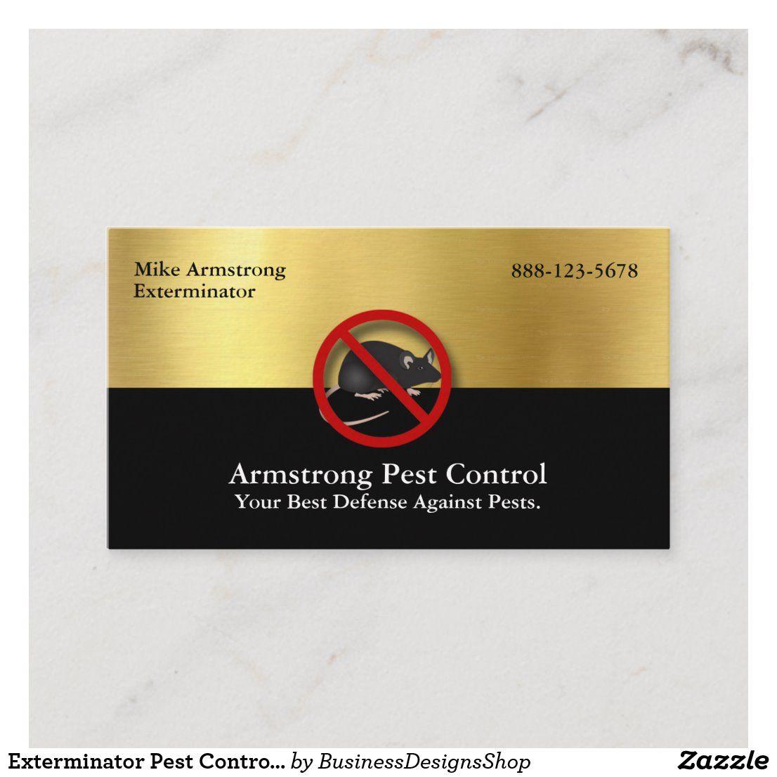 Exterminator Pest Control Mouse Rodents Business Card Zazzle Com Pest Control Mice Exterminator Pest Control