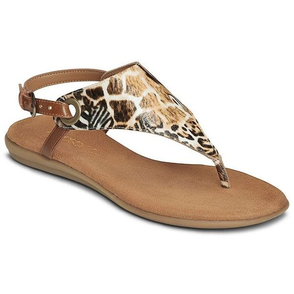 Aerosoles Conchlusion Thong Sandals ($59) ❤ liked on Polyvore featuring  shoes, sandals,