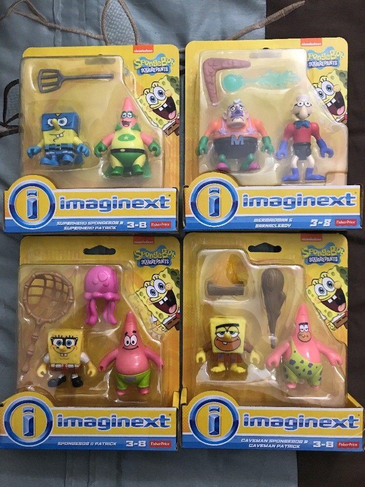 Imaginext Spongebob Squarepants Figures Sets Lot Of 4 | eBay