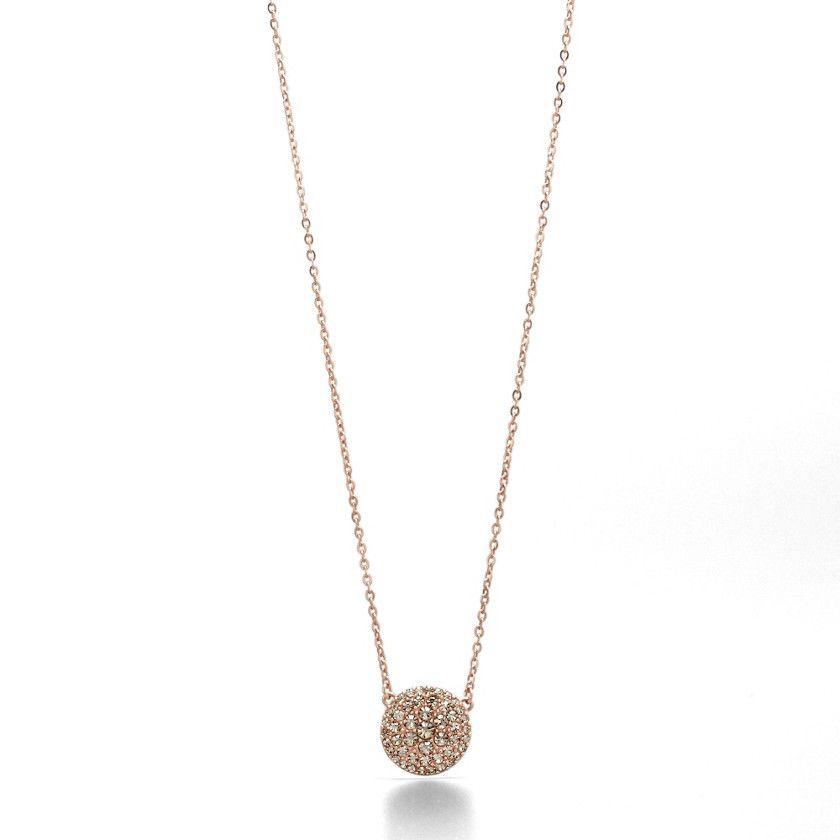 Glitz disc necklace rose disc necklace fossils and fossil jewelry fossil features a touch of rosewomen glitz disc necklace rose jf00139 mozeypictures Gallery