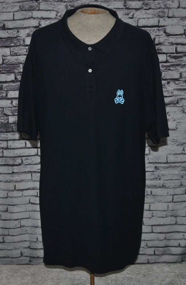 088bd8c0 Men's Robert Godley Psycho Bunny Golf/Polo Sz Big & Tall XLT/4 Blue Solid  Cotton #PsychoBunny #PoloRugby