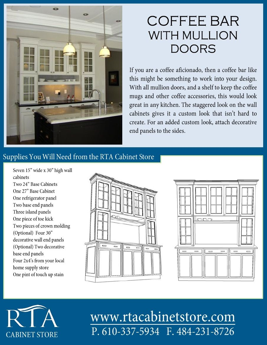 Creating the ultimate coffee bar with glass mullion doors using rta ...