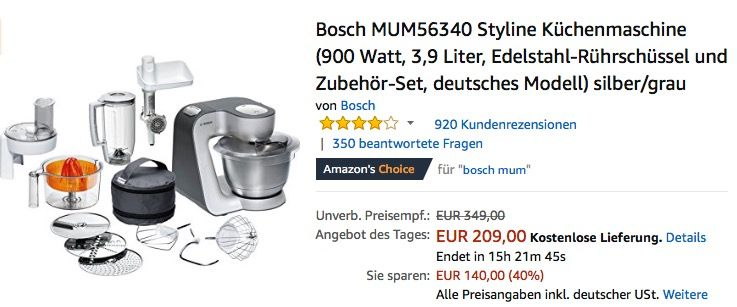 Kuchenmaschine Bosch Mum Lord Colbro Co