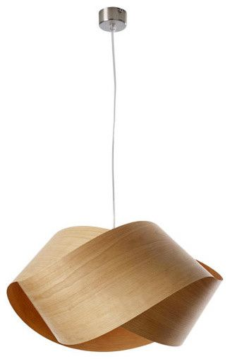 Easy To Make Wood Veneer Pendant Lamp Light Fixture
