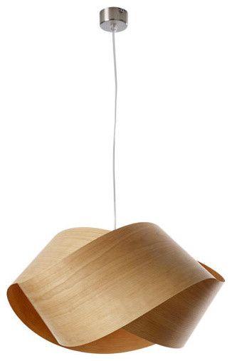 Easy To Make Wood Veneer Pendant Lamp Light Fixture Wood Pendant