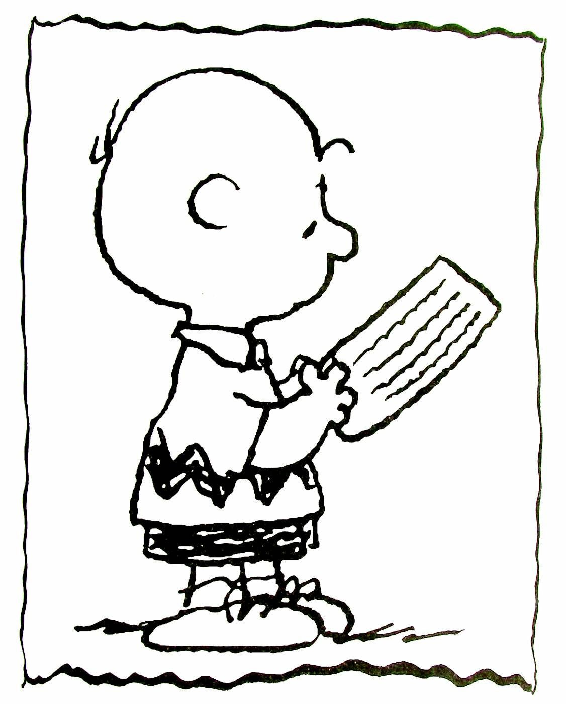Charlie Brown coloring book page