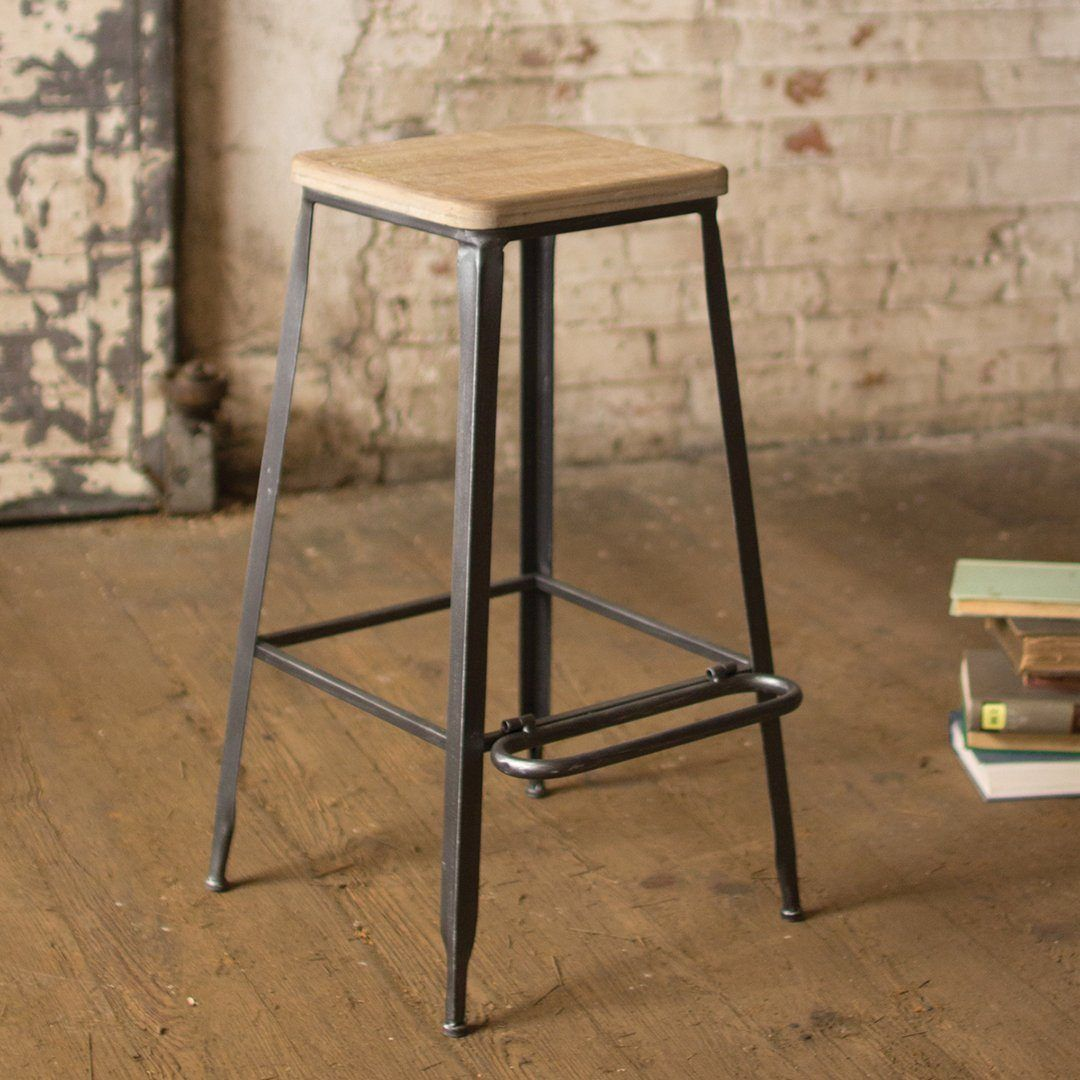 metal bar stools with wood seat. Metal Bar Stool With Square Wooden Seat Stools Wood