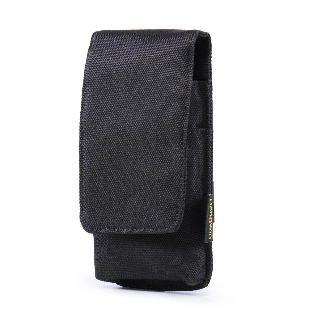 "Unisex Nylon Velcro Cell Phone Pouch 5.5"" Waist Pack Belt Clip Holster Bag for iPhone 7plus Samsung Note 4, S8, S7 Edge"