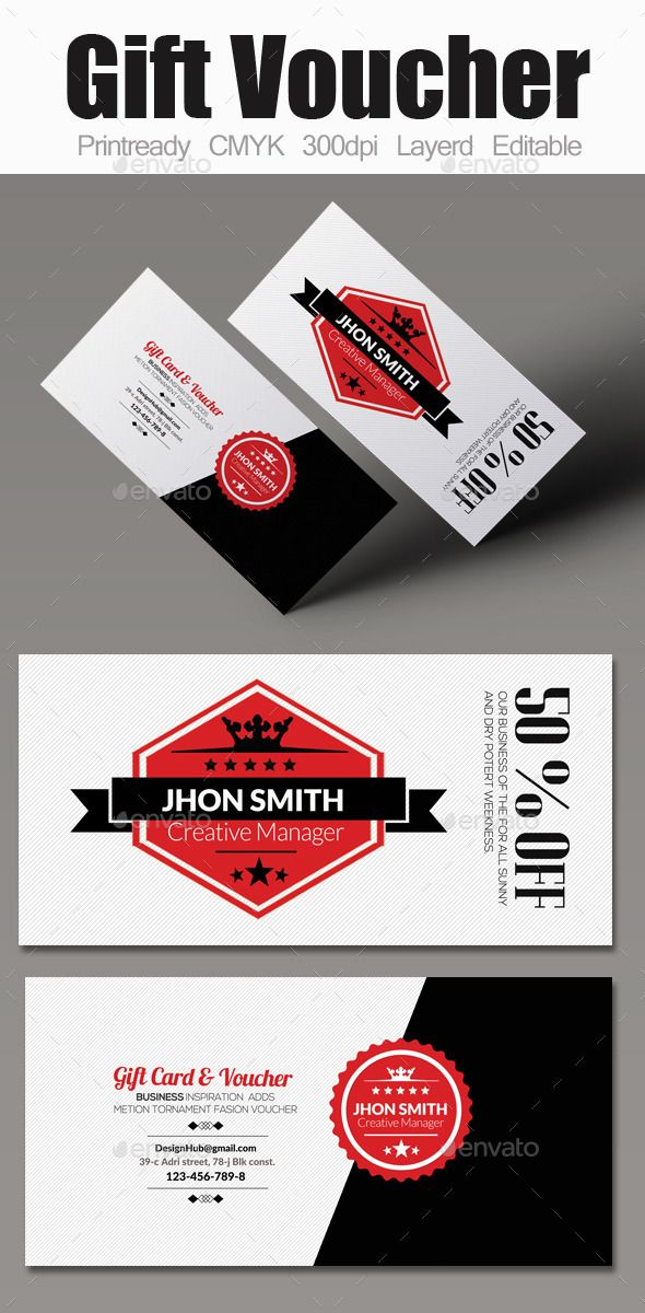 Multi Use Business Gift Voucher | Print templates, Gift voucher ...