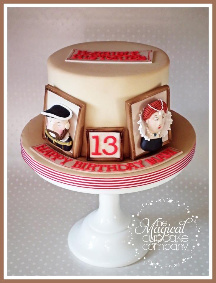 Horrible Historiesthemed 13th birthday cake featuring Henry VIII