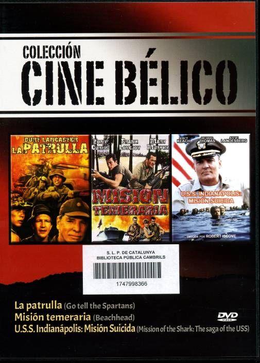 SETEMBRE-2013. La patrulla / Misión temeraria / U.S.S. Indianápolis: misión suicida   DVD BÈL·LIC POS