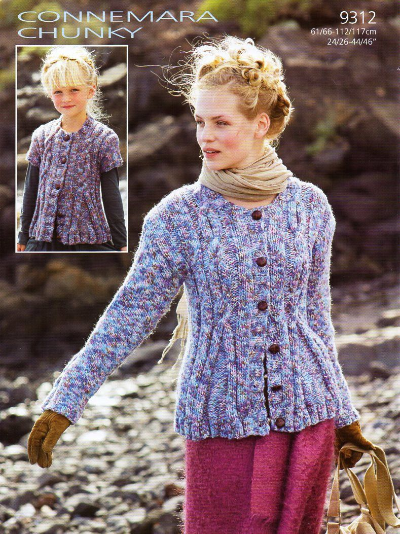 womens aran cardigan knitting pattern pdf download ladies cable ...