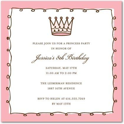 Gods princess birthday invitation google search princess find this pin and more on princess birthday pink crown birthday party invitations filmwisefo