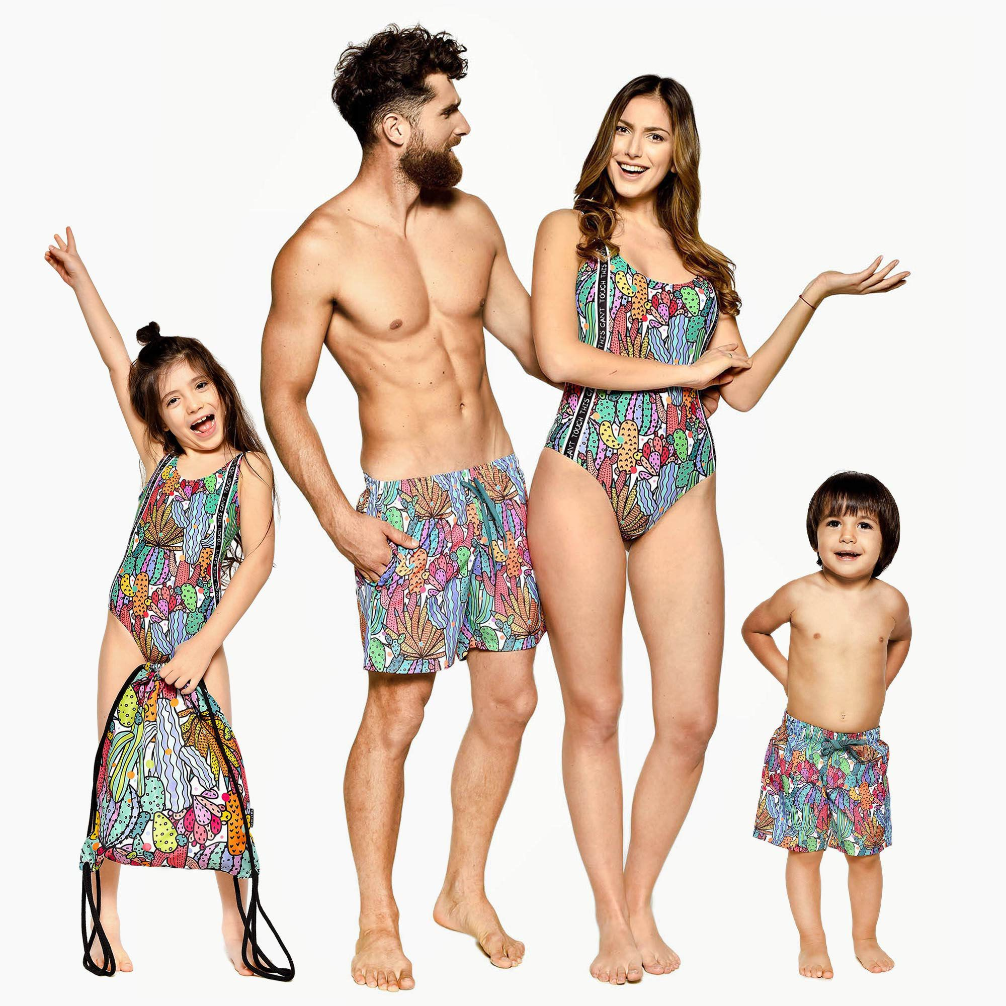 852510c77e Family Swimsuit, Kids Swimwear, Matching Swimsuit, Cactus Swimsuit, Family  Matching Set, Cactus Swimwear, Floral Swimsuit, Mommy And Daddy