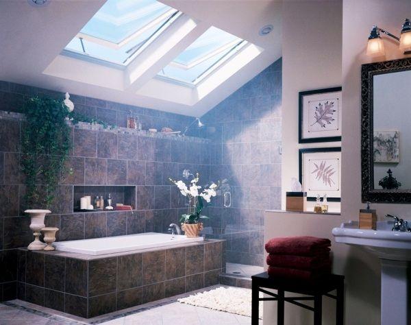 Ideen Badezimmer mit Dachschräge dachfenster | Bad | Pinterest ...