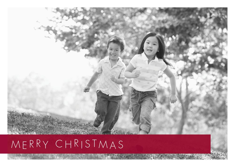 Merry Christmas Holiday Photo Card - Discount Greeting Cards