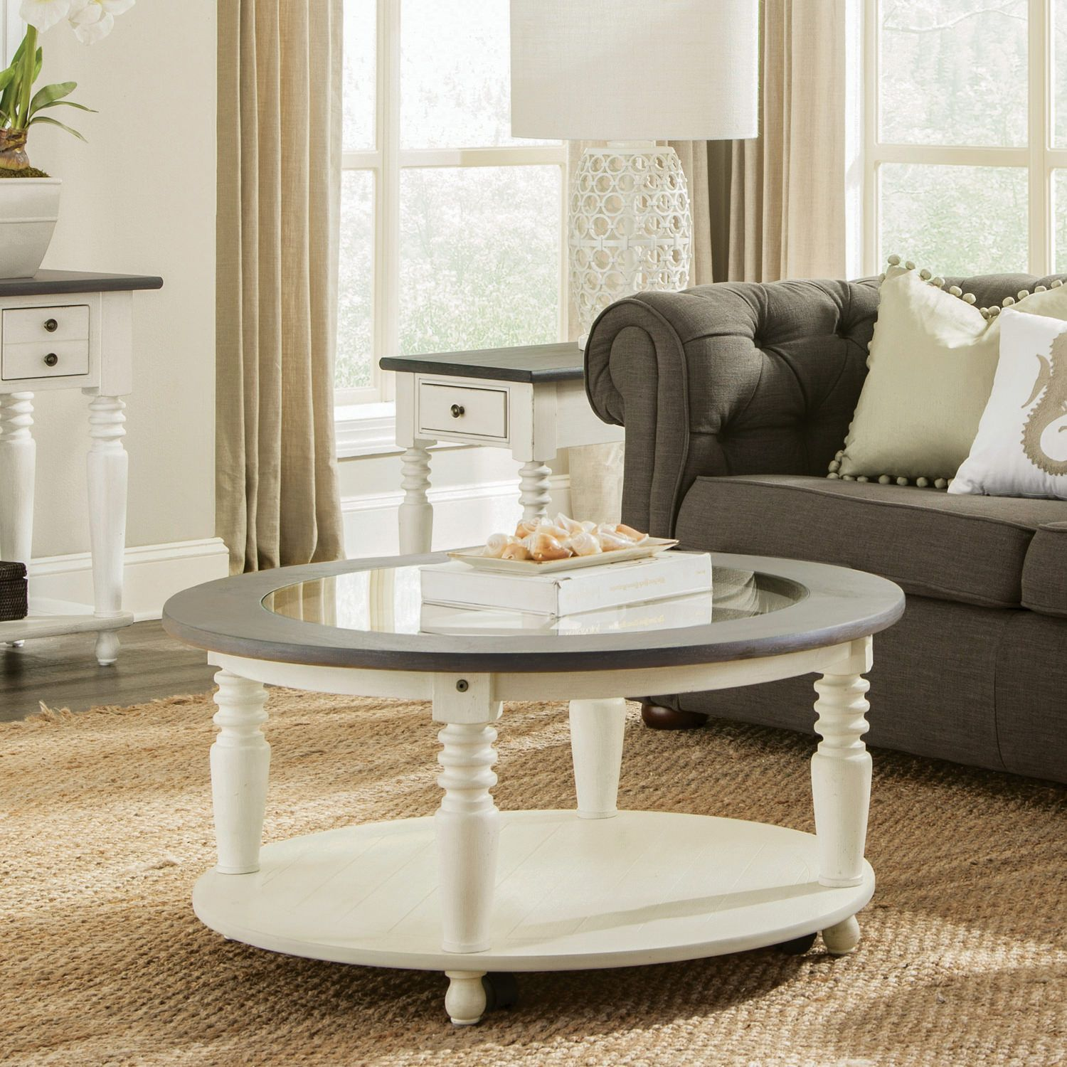 Juniper Round Coffee Table End Tables Riverside