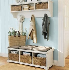 Hall Tree Coat Rack Storage Bench Foter Small Entryways