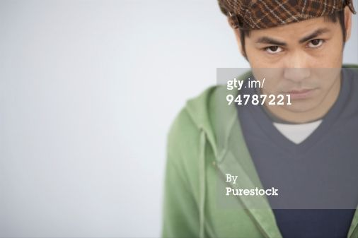 Royalty-free Image: Teenage boy with attitude portrait