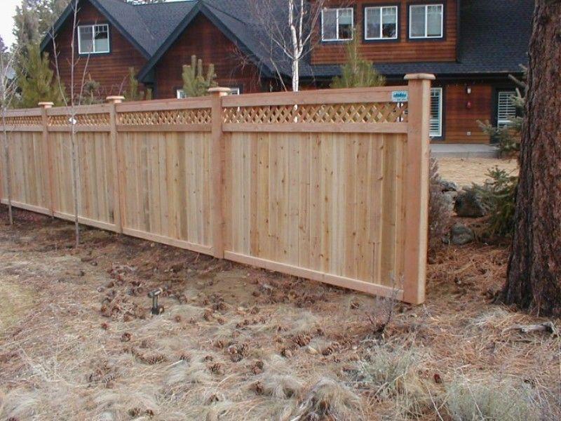 Lattice Top Cedar Fence With Lattice Top Good Neighbor Fence Lattice Privacy Fence