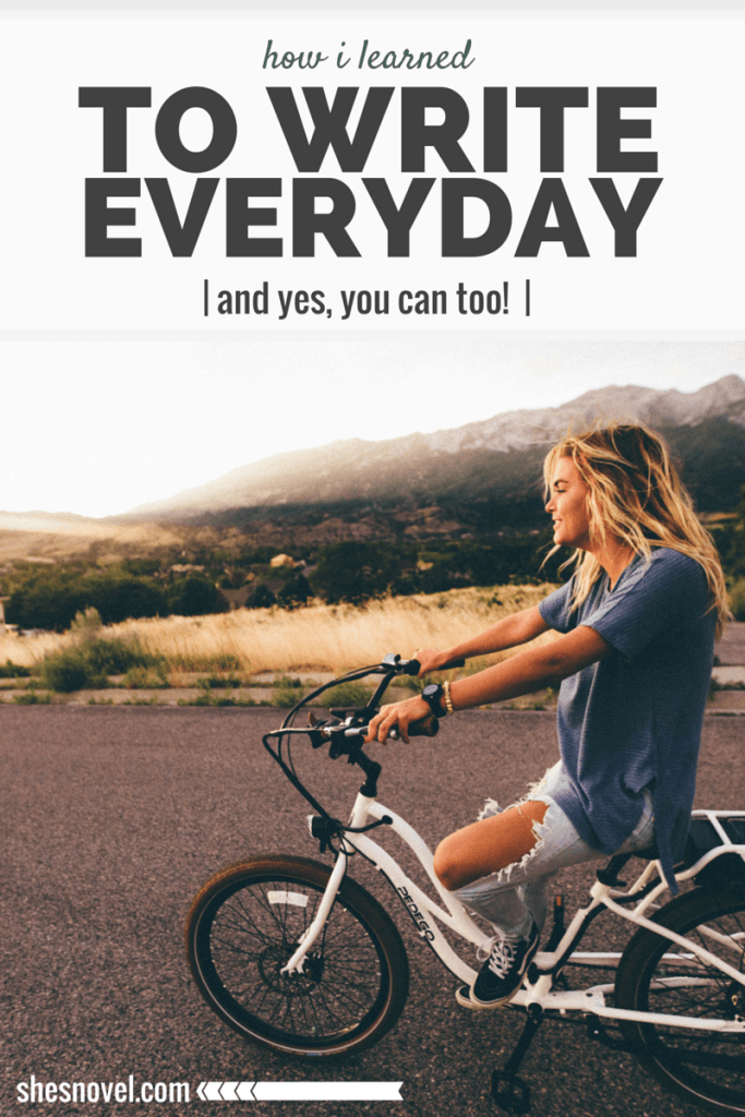 Writing everyday is one of the best ways to improve your skills and move closer to completing your novel. Think writing everyday sounds insane? Check out these writing tips and learn how to make daily writing a habit! ShesNovel.com