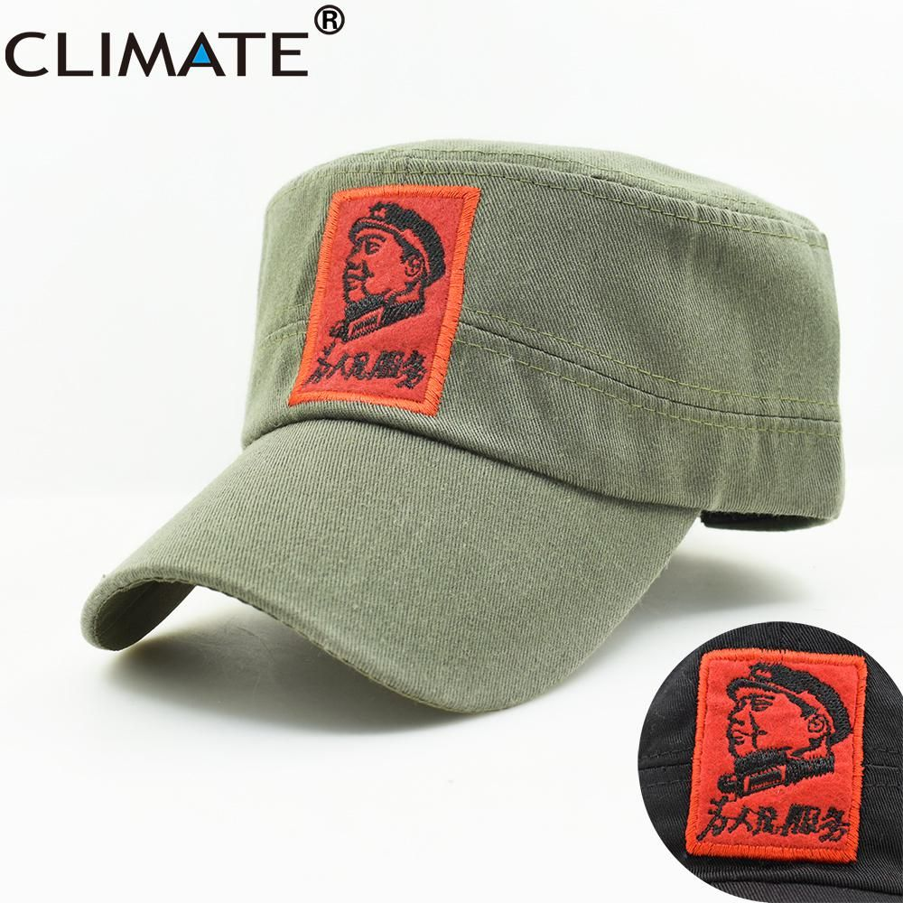 CLIMATE New Men Army Military Caps Chinese Chairman Mao