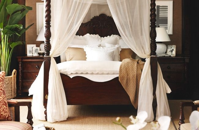 Tropical British Colonial Style Master Bedroom | Coral Springs ...