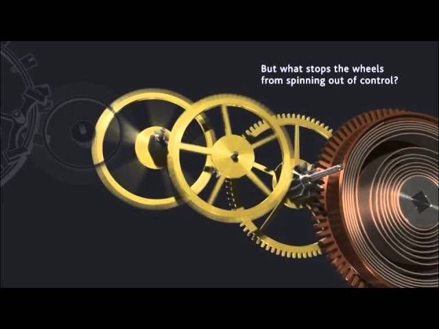 Here is an animation how a mechanical watch movement is generally working
